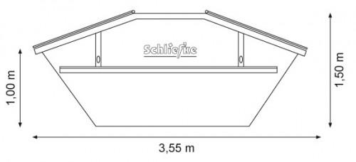 Absetzcontainer 5,5 m3 mit Deckel zum Verschließen