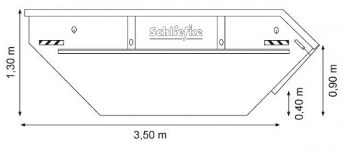 Absetzcontainer 5,5 m3 mit Klappe