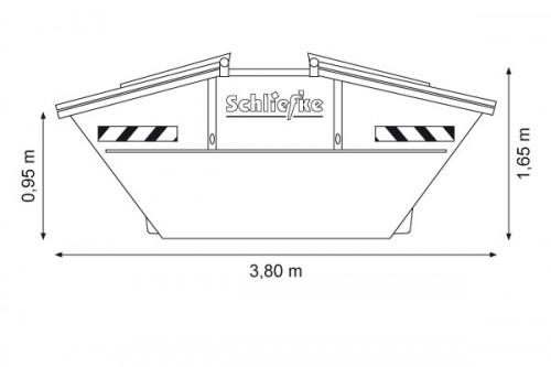 Absetzcontainer 7,0 m3 mit Deckel zum Verschließen