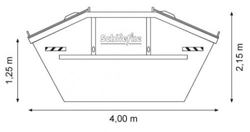 Absetzcontainer 10 m3 mit Deckel zum Verschließen