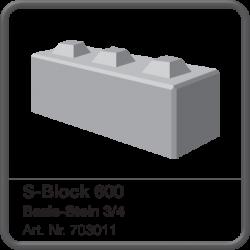 S-Block 600 Basis-Stein 3/4