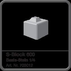 S-Block 600 Basis-Stein 1/4